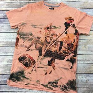 AKOO Great White, boat print t-shirt